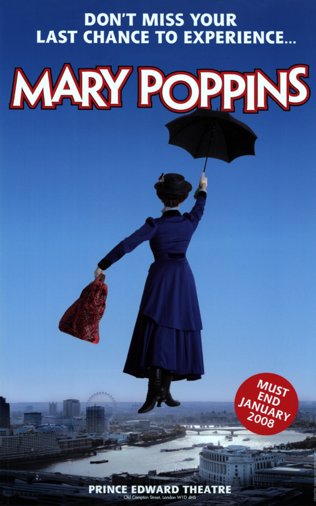 mary poppins prince edward theatre repro poster